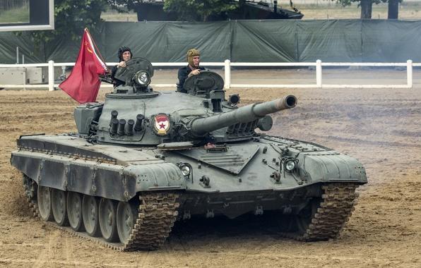Picture field, tank, trunk, combat, armor, T-72