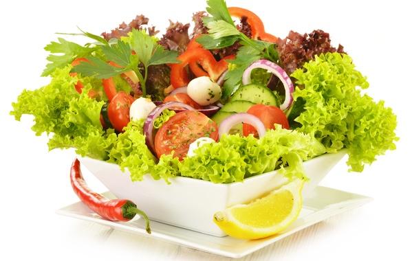 Picture greens, vegetables, vegetable salad, green salad