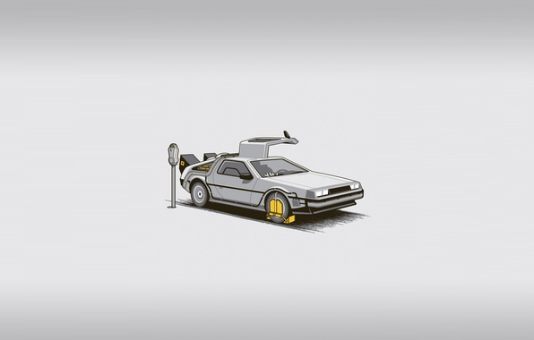 Picture machine, the film, fine, minimalism, Parking, time machine, back to the future