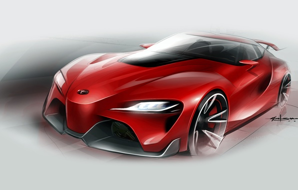 Picture figure, sketch, Toyota, Toyota, FT-1