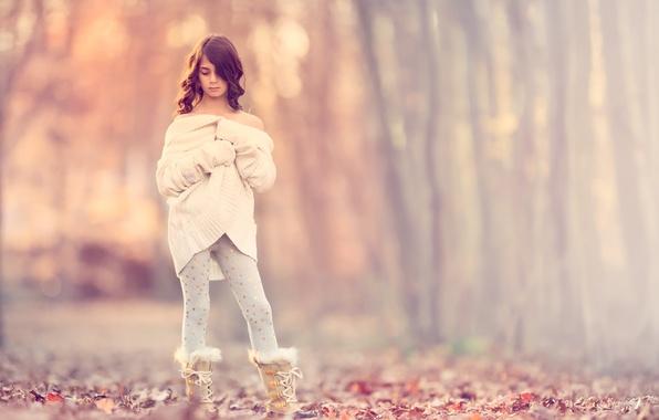 Picture autumn, girl, the beauty, Meg Bitton