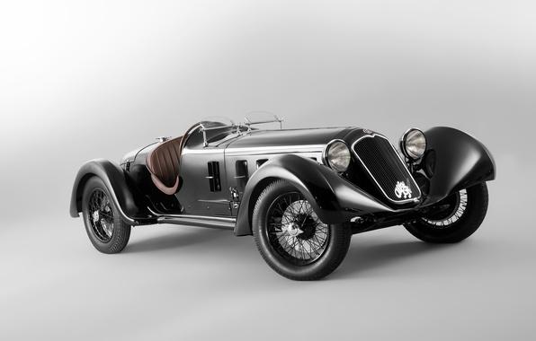 Picture retro, background, Alfa Romeo, the front, Alfa Romeo, 1929, 1750