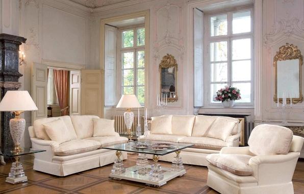 Wallpaper lamp luxury table living room sofa flowers for Living room 640x1136