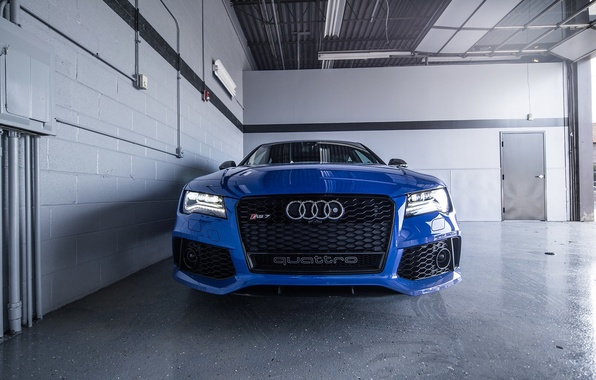 Picture Audi, Audi, Blue, Lights, Blue, RS7