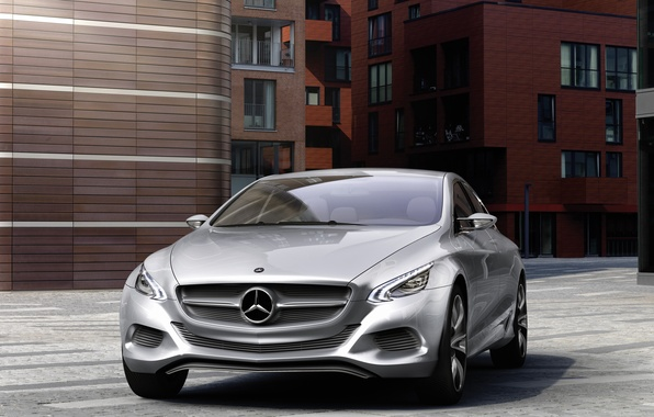 Picture road, machine, building, Auto, concept, Mercedes Benz, f800