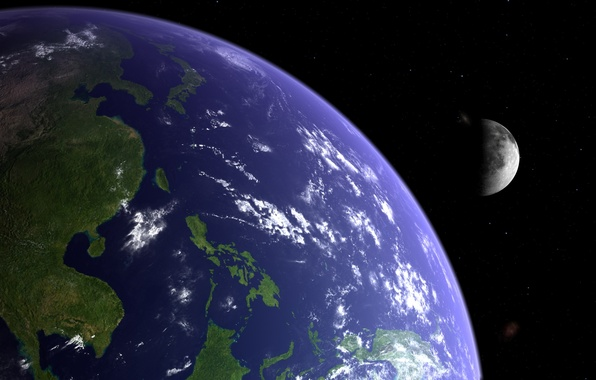 Picture moon, planet, like Earth