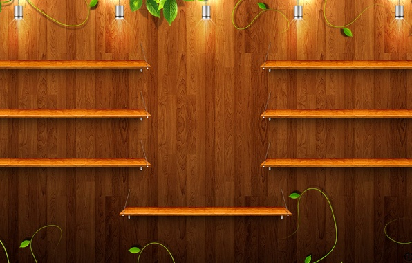 Wallpaper Lamp Tree Greens Texture Shelves Images For
