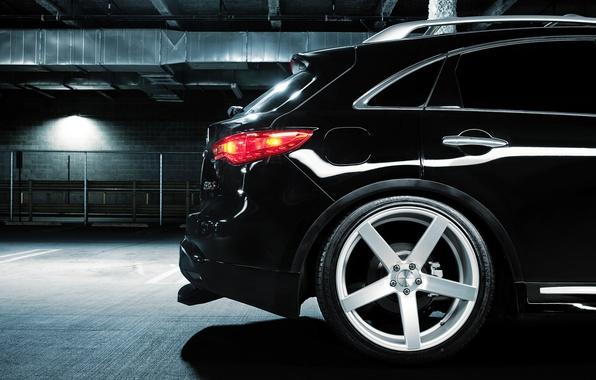 Picture Infiniti, Parking, black, infiniti, rear, Vossen, FX 35 S