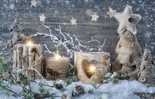 picture snow decoration candles new year christmas christmas vintage