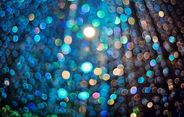 Picture light, glare, a lot, bokeh