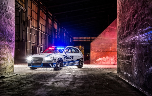Photo wallpaper 2015, Police, Before, RS 4, Audi, police, Audi
