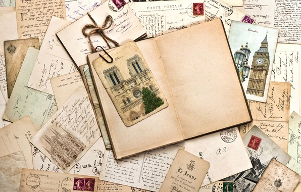 Photo Wallpaper Vintage Brand Line Cards Letters Old Paper Monuments