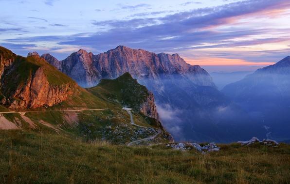 Picture landscape, mountains, nature, haze, gorge