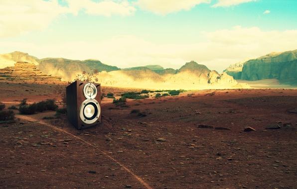 Picture mountains, music, stones, creative, landscape, manpower