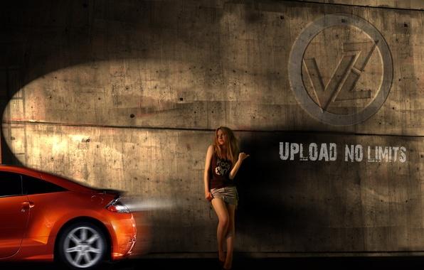 Picture auto, machine, girls, wall, speed