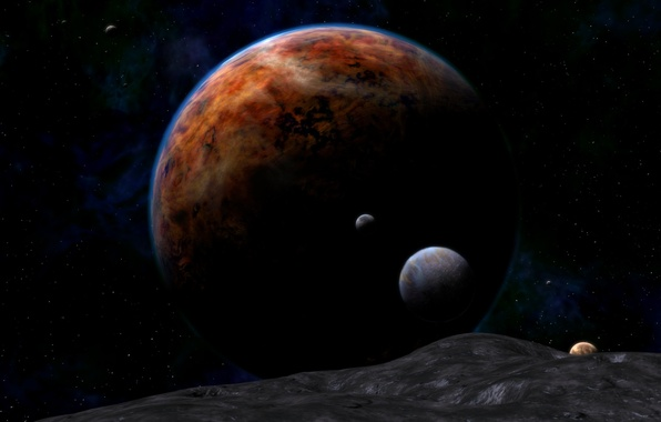 Picture space, cosmos, planets