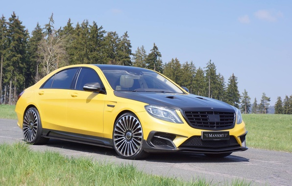 Picture Mercedes, Carbon, AMG, Yellow, Mansory, S63