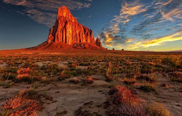 Picture landscape, nature, rock, desert, new mexico