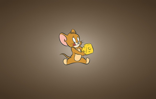 Picture minimalism, mouse, cheese, Tom and Jerry, Tom and Jerry