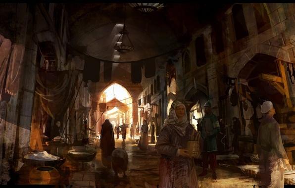 Picture art, assassins creed, market