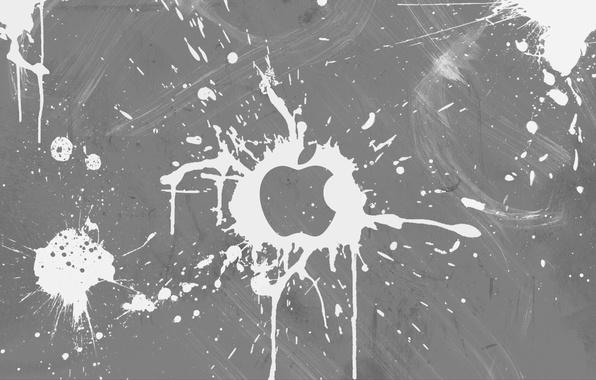 Picture white, blot, apple