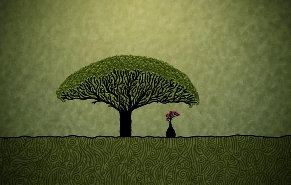 Picture minimalism, Figure, baobab