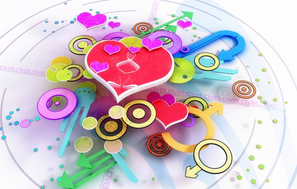 Picture love, time, arrows, heart, watch