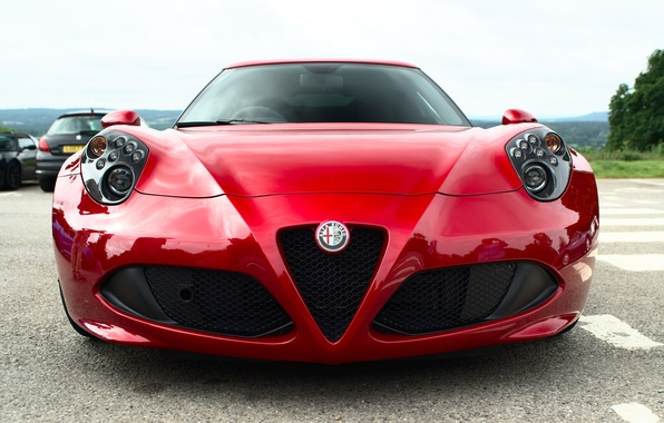 Picture red, Alfa Romeo, the front