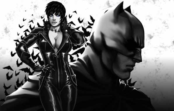 Picture chest, girl, batman, the dark knight, mask, art, costume, beauty, Catwoman, superhero, DC Comics, Catwoman, …