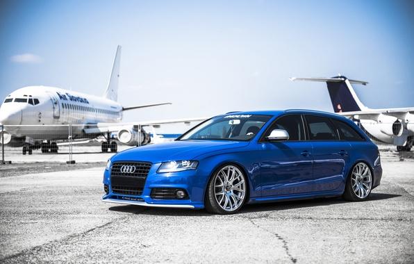Picture Audi, Aircraft, Blue, Airport, AUDI, Drives, Deep Concave