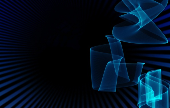 Picture color, strips, blue, background, black, Abstraction