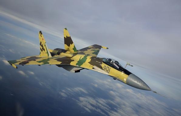 Picture Wallpaper, fighter, the plane, su-35