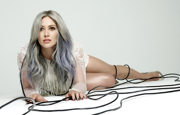 Picture wire, model, makeup, dress, actress, hairstyle, blonde, photographer, shoes, lies, singer, Hilary Duff, Hilary Duff, …