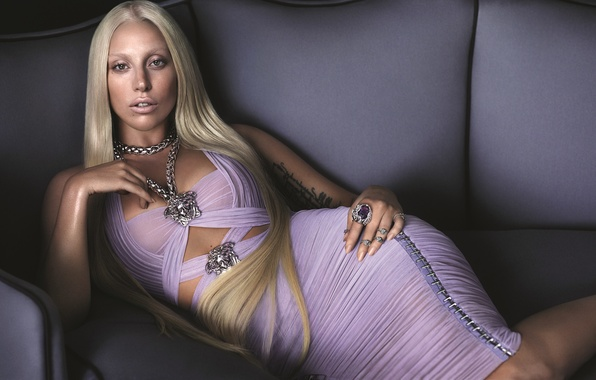 Picture Lady Gaga, Lady Gaga, Versace
