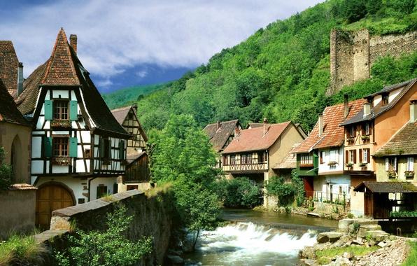 Picture France, village, Kaysersberg