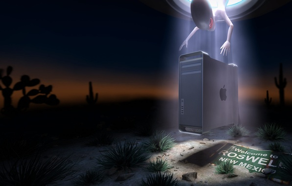 Picture desert, Apple, New Mexico, Roswell, U.F.O.
