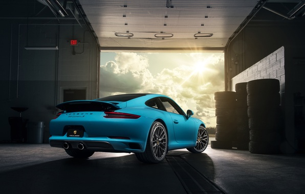 Picture 911, Porsche, Blue, Carrera, Supercars, Rear, 2017