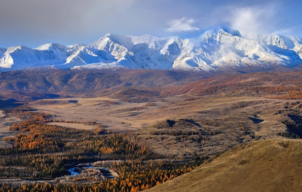 Picture autumn, mountains, Altay