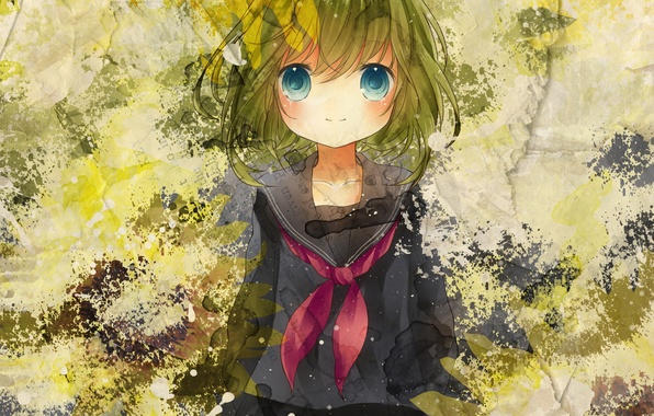Picture girl, paint, art, Vocaloid, Vocaloid, Gumi, hinanosuke