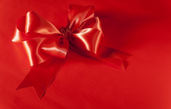 Picture red, background, decoration, bow