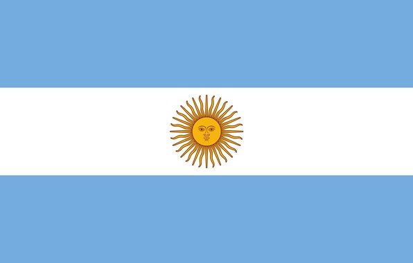 Picture white, blue, Argentina, sun, flag