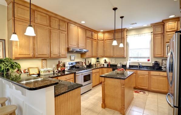 Picture design, photo, lamp, interior, refrigerator, kitchen