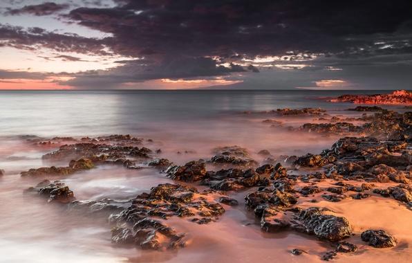 Picture sea, landscape, United States, Hawaii, Këökea Ahupua'a, Kihei