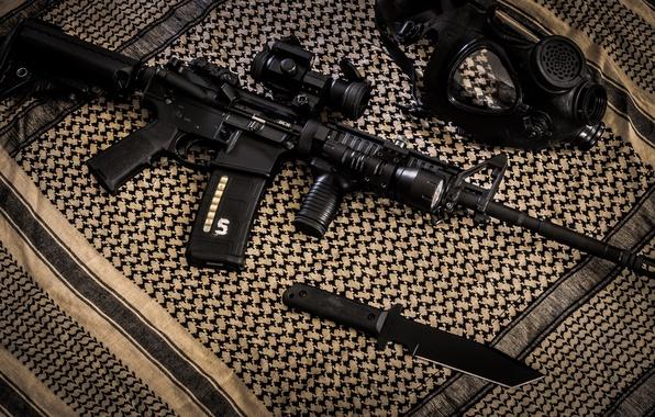 Wallpaper Knife Fabric Bags 2 Pieces AR 15 Machines Assault