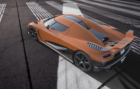 Picture orange, markup, Koenigsegg, supercar, spoiler, rear view, wing, hypercar, agera R, Koenigsegg, Agera R