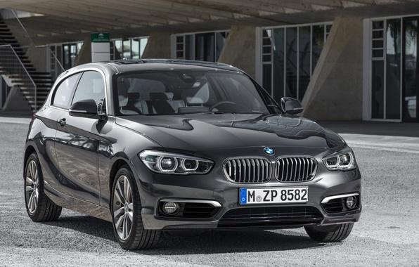 Picture photo, Black, BMW, Car, 2015, Metallic, Urban Line, 120d