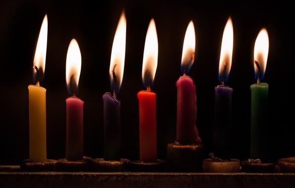 Picture macro, candles, Hanukkah Lights