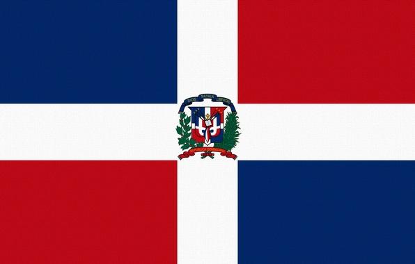 Picture Red, Blue, Cross, Flag, Dominican Republic, Square, Dominican Republic