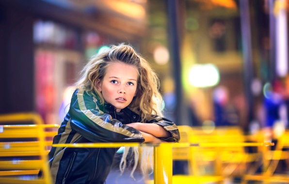 Picture the city, jacket, girl, bokeh, Julia Altork