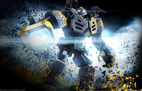 Picture robot, robot, Square Enix, Gas Powered Games, supreme commander 2
